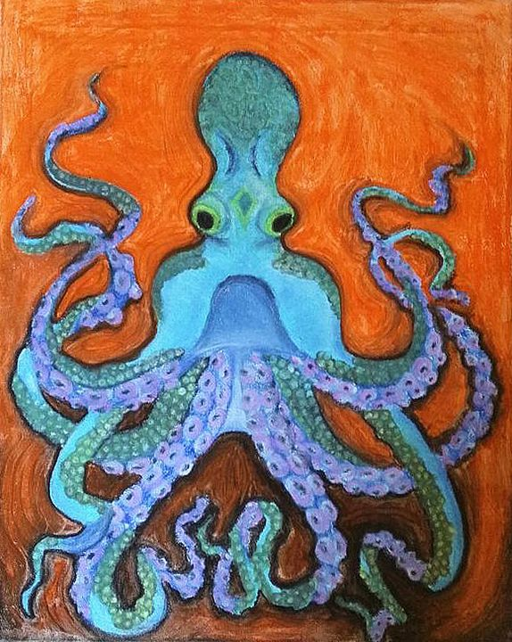 Blue Octopus - Conventionally Quirky by Alison Moore