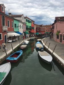 Canals in Burano, Italy