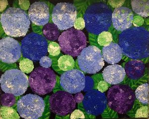 Hortensia bleu et violet