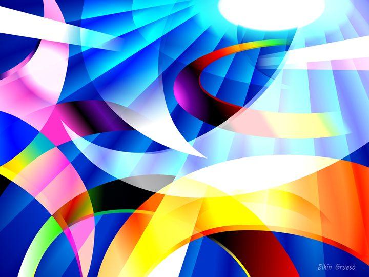 KRAYOLIGHT Abstract Digital Art #02 - Elkin Grueso ART