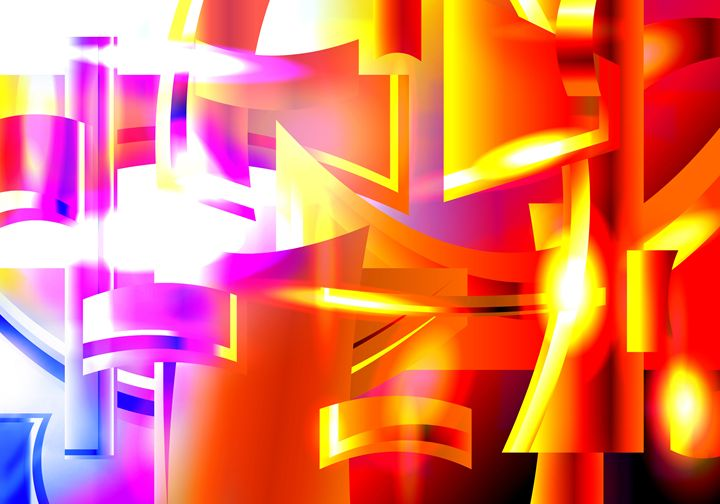 Golden Angelic Armon (Abstract Art) - Elkin Grueso ART