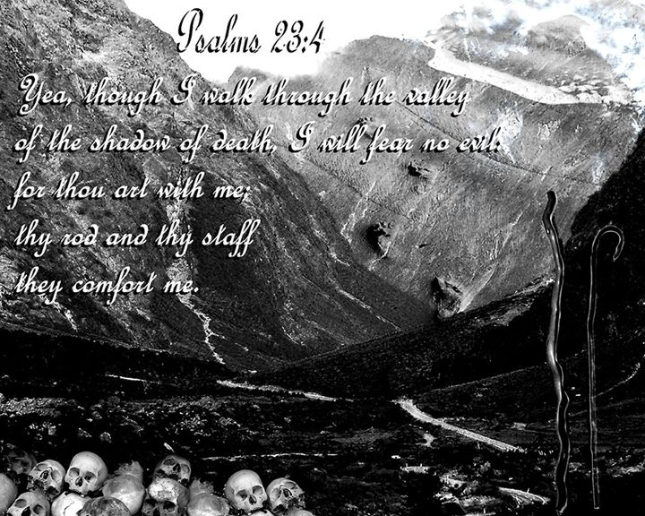 Psalms 23:4 - Art by Cheywings