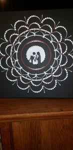 Jack and Sally silhouette mandala