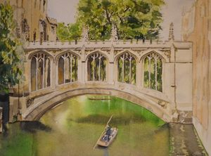 The Bridge of Sighs, Cambridge - JamesShandArtist
