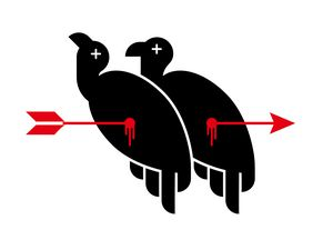 One arrow double vultures