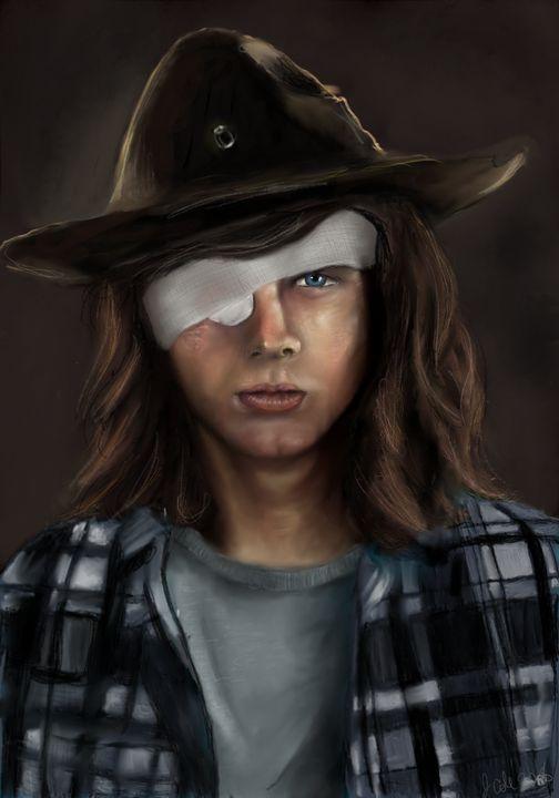 Carl The Walking Dead - Caddywhompuscreation