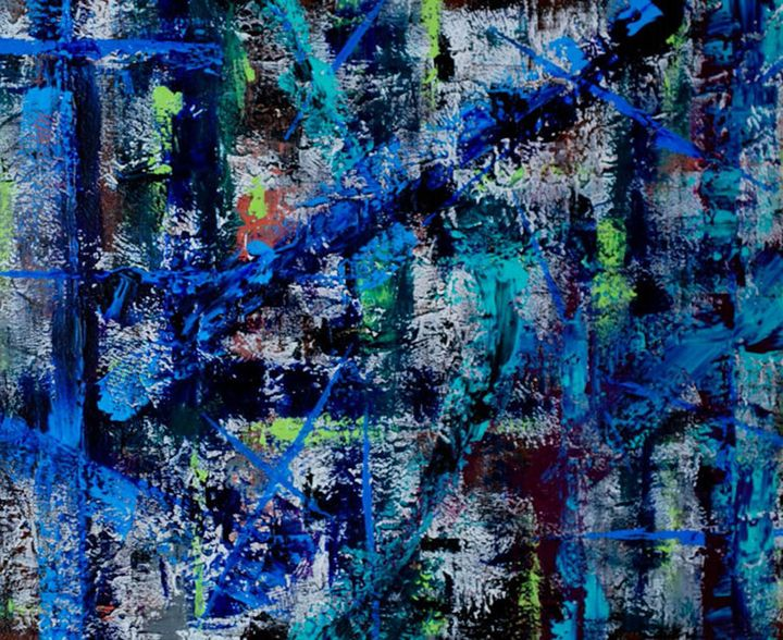 JMM: Blue, Barbed, and Cool Colored - Moyle's Abstract Fine Art