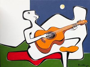 Serenade to the moon - SOLD