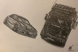 BMW and scania