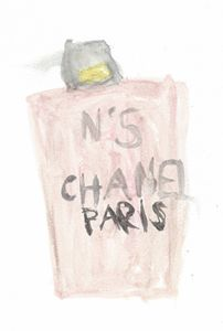 Perfume in Pink and Black