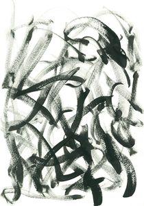 Dancing Paintbrush Black and White