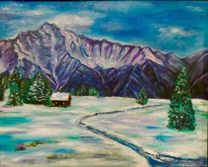 Purple Alaska Mountains - Shari Riepe