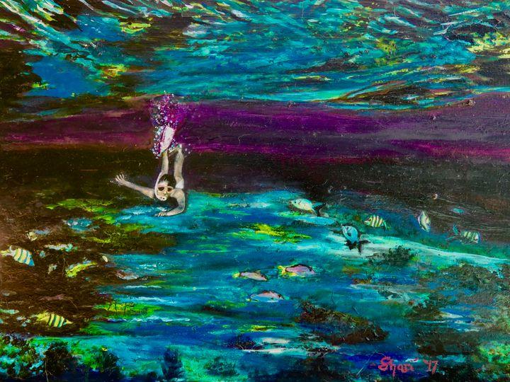 Snorkel Underwater Florida - Shari Riepe