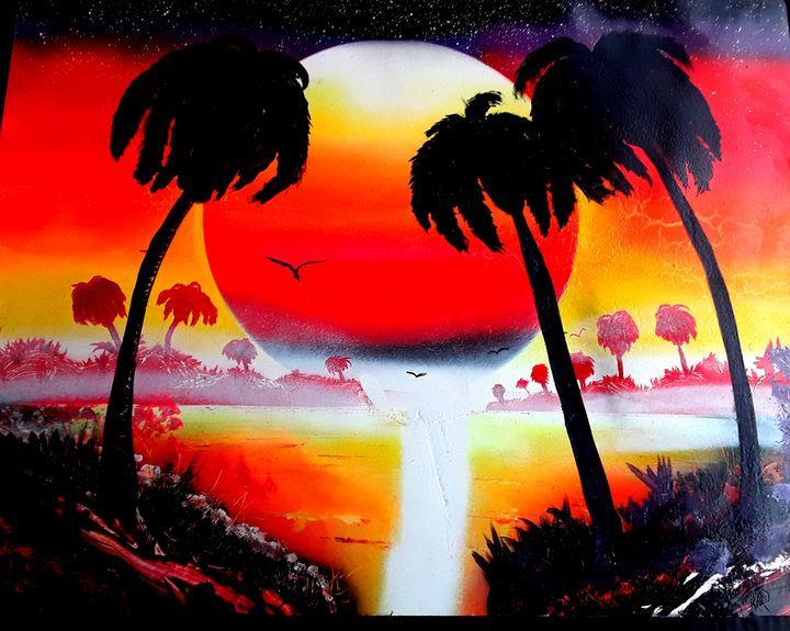 Red Dawn - RJ's spray paint Art