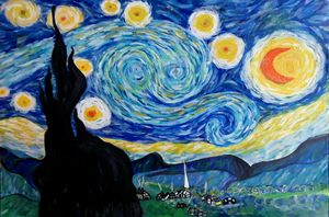 Starry Night - RJ's spray paint Art