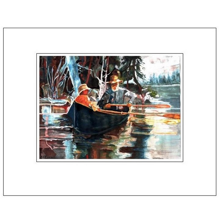 Canoeing on the River - Artscapes