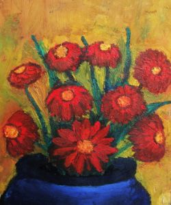 Rustical Red Flowers