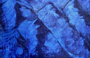 Prussian blue mountains
