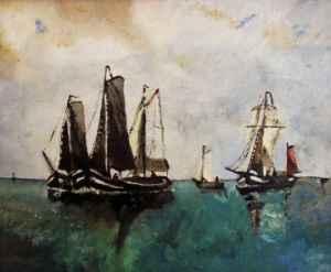 Whalers on the sea