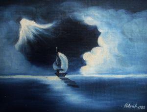 Romantic ship on the sea