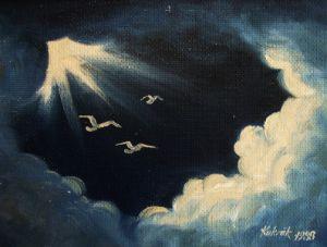 Birds reaching heaven