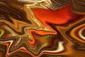 Abstract, organic, with liquid gold