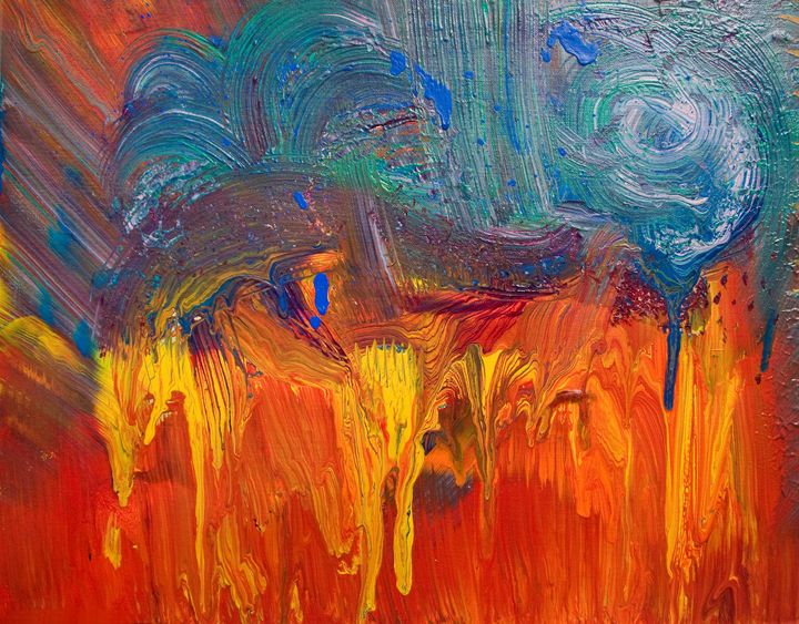 Firey Rain Glory - Canvas Thy Vision