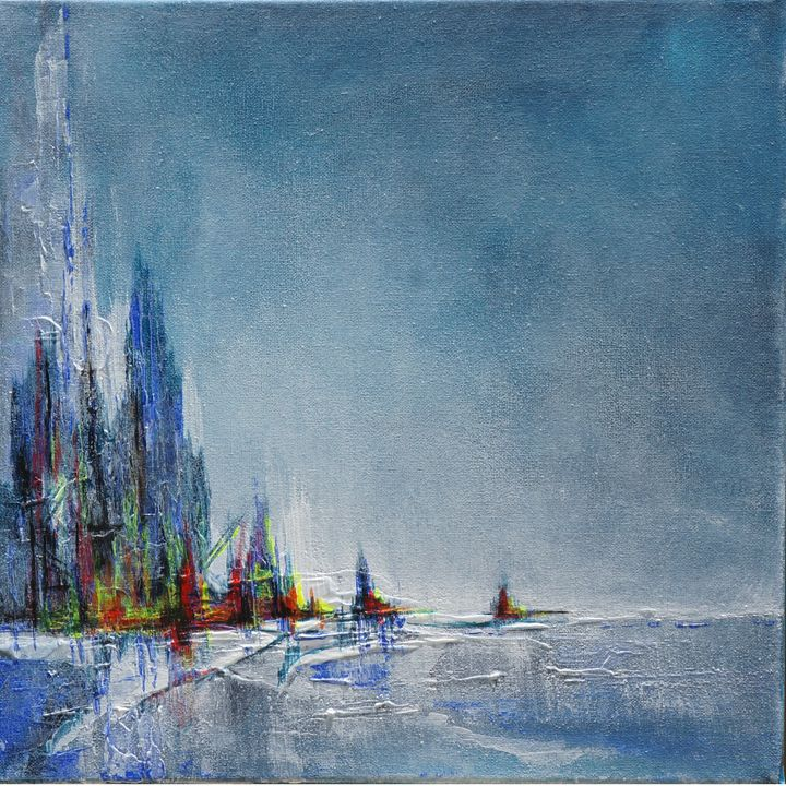 Blue abstract  SOLD - Christiane Sandler