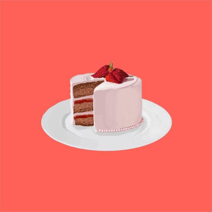 Strawberry Cake - VEANJ