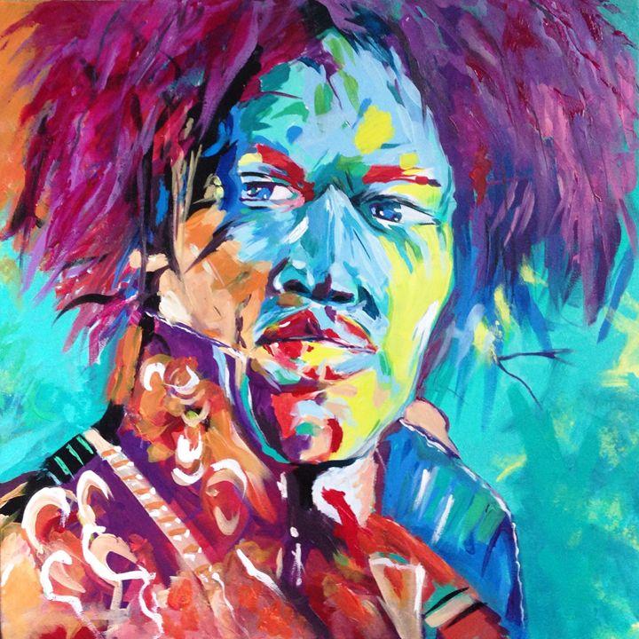 Jimi Hendrix colors - Tibzart