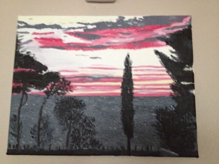 Croatian Sunset - My Paintings