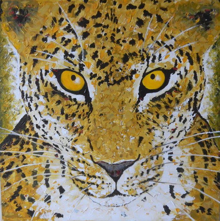 Leopard in jungle - Ferraro Art