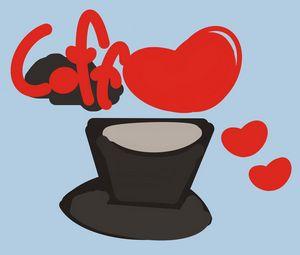 Coffee love in pop art design - SuArt