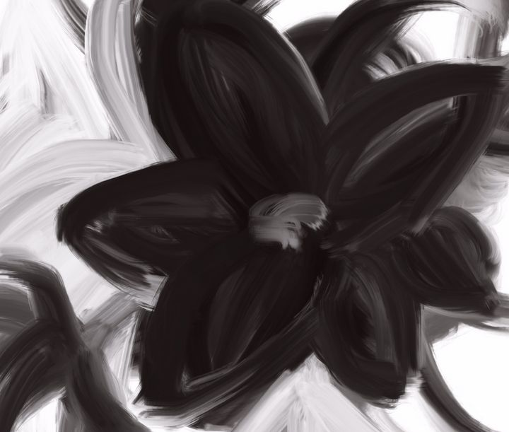 Lovely Flower in black and white - SuArtandCo