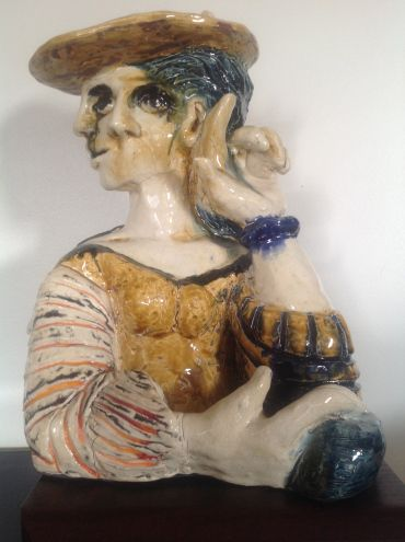 Corine-Sculpture Céramique cubiste - Hiam Demeulenaere