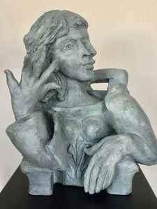Madeleine Cubist Portrait sculpture - Hiam Demeulenaere