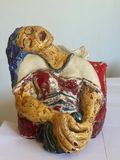 Ceramic, enamel original sculpture