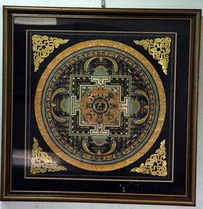 Mandala (canvas gold emboss)