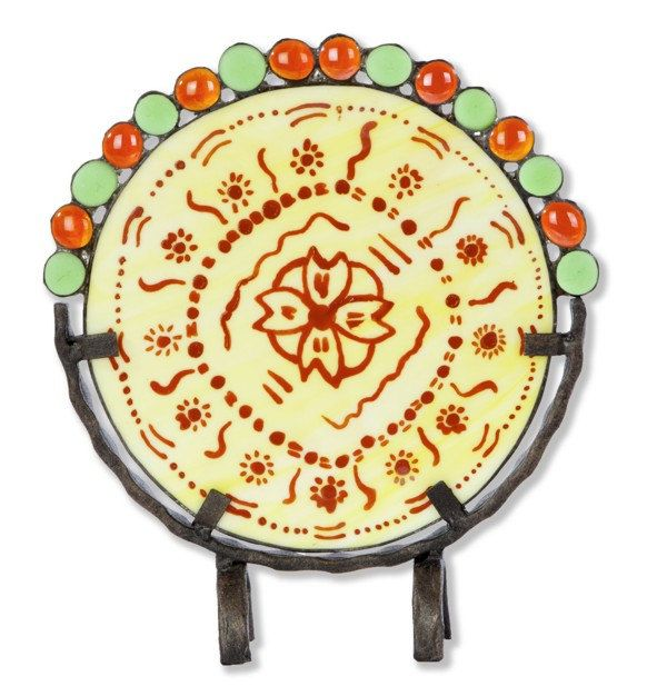 Decorative plate with ethnic motifs - LidiArtGlass