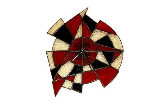 Handmade stained glass clock - LidiArtGlass