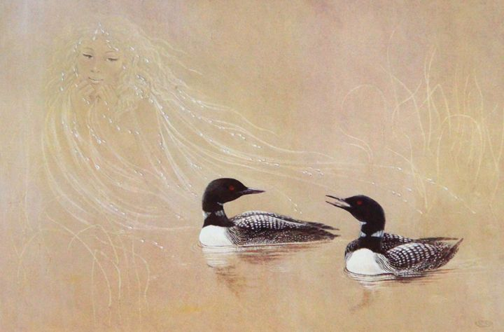 Loons and rains by Dorothy renals - Painters revival