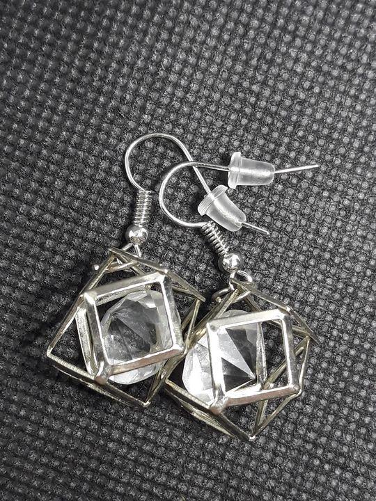 Metal earrings with diamond - Jennifer Lopez
