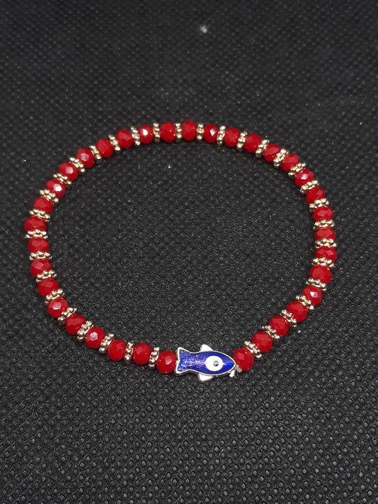 Red Bracelet with blue fish - Jennifer Lopez