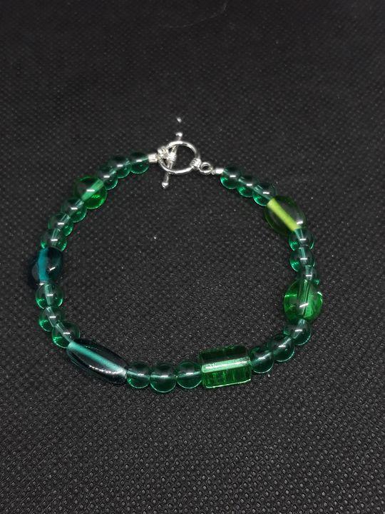Clear Green and teal bracelet - Jennifer Lopez