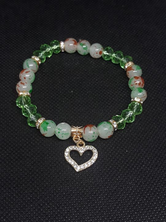 Light green bracelet with gold heart - Jennifer Lopez