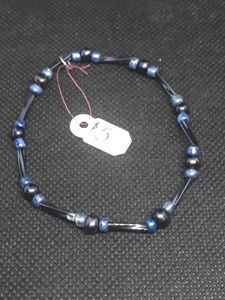 Black and dark blue bracelet