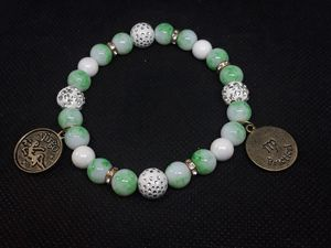 Virgo light green and white bracelet