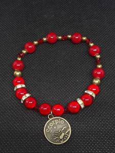 Scorpio red and gold bracelet