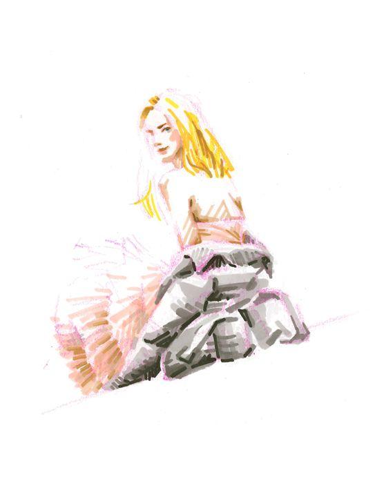 Girl in pink tutu skirt - Jung Eun Kim