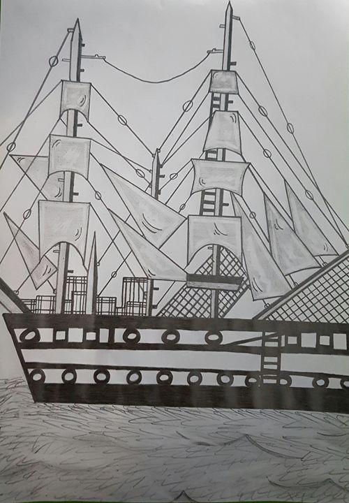 Ship sketch - Handpencil
